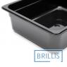 Гастроёмкость Brillis GN1/2-100 из черного поликарбоната