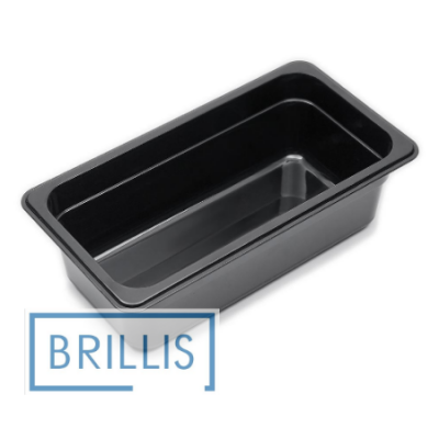 Гастроёмкость Brillis GN1/3-100 из черного поликарбоната