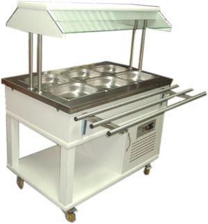Передвижной охлаждаемый салат бар Atalay ASSB-03
